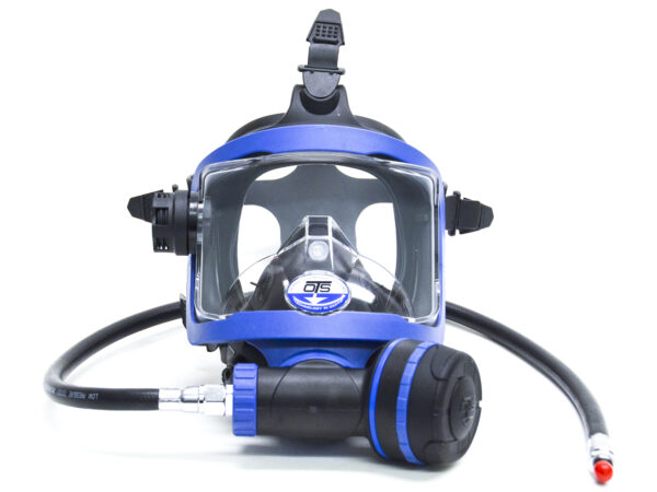 Ots Guardian Ffm.  Black Skirt / Blue Hardware.  Includes Abv-1, Lp Hose, And Mask Bag.